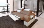 2 seater couch sofa Orlando with electric relax function cappuccino Mineva 21