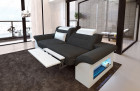 Chicago 2 seater sofa with relax function - black Hugo 14