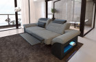 Two-seater sofa Chicago fabric with electric relax function - grey Hugo 5