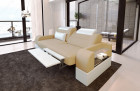 2 seater couch sofa Parma with electric relax function sand beige Mineva 4