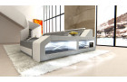 Designer Sofa Houston with LED Lights grey-white