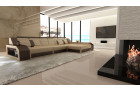 Modern Corner Sofa Houston sandbeige-darkbrown