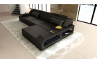 Modern Corner Sofa Houston in black