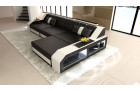 Designer Sofa Houston with LED Lights black-white