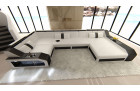modern sectional sofa Houston white-black