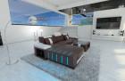 modern corner sofa brown-white
