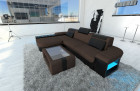 Mega Sectional Fabric Sofa Boston L with LED brown - Hugo 8