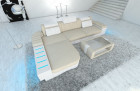 design fabric Sofa Boston L Shaped ivory - Hugo 1