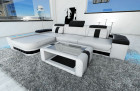Design Sofa Boston LED L Shaped white-black