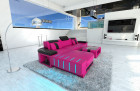 Design Sofa Boston LED L Shaped pink-black