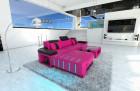 Design Sofa Boston LED L Shaped pink-black