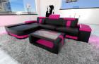 modern corner sofa black-pink