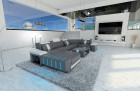 Design Sectional Sofa Boston LED U Shape grey-white