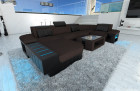 Design Sofa Boston U Shaped darkbrown - Hugo 10