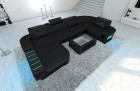 Modern Fabric Sofa Boston with LED darkgrey - Hugo 13