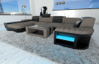 Modern Fabric Sofa Boston with LED grey - Hugo 3