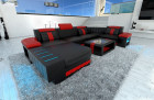 modern Sofa Boston U Shape black-red