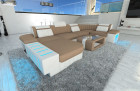 Modern Fabric Sofa Boston with LED sand - Microfaser 9