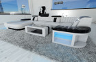 Luxury Sofa Boston with LED Lights white-black