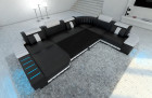 XL Sectional Sofa Boston LED U Shaped with sofa bed