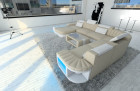 Design Fabric Sofa Boston XL Shaped ivory - Hugo 1