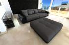Big Fabric Sofa Miami with LED  grey - Hugo 12