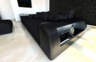 XXL Fabric Sofa Miami with LED Lights black - Mineva14