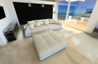 Big Fabric Sofa Miami with LED beige - Hugo 1