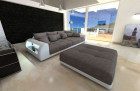 Lounge Fabric Sofa Miami lightgrey - Hugo 3