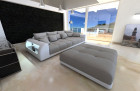 Big Fabric Sofa Miami with LED lightgrey - Mineva12