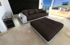 Big Fabric Sofa Miami with LED brown - Mineva 18