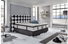 box spring bed Cosmopolitan modern in black-white