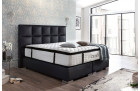 Boxspring Bed Mandarin synthetic leather -black