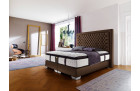 Modern box spring bed Palace hotel bed in brown