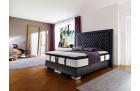 Designer box spring bed Palace complete bed in black