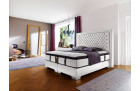Luxury box spring bed Palace hotel bed in white