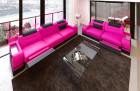 Modern Sofa 3 and 2 seater LED pink-black