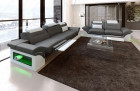 Design Sectional 3er 2er 1er Sofa LED grey-white