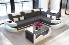 Luxury Fabric Sofa L Shape - Microfiber light-grey Mineva 8