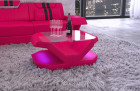 luxury coffe table Beverly Hills with LED lights - pink