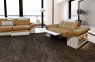 Design Sectional 3er 2er 1er Sofa LED sandbeige-white