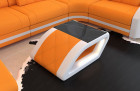 Luxury side table Palm Beach with safety glass plate Mineva 16 - apricot