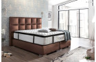 Boxspring Bed Mandarin synthetic leather - copper
