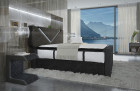 comfortable Fabric Boxspring bed Fulton with USB Port in black-grey - Hugo 13