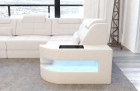 Modern Sectional Sofa Denver L-Shape with LED - white