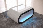 fabric coffee table led lights - microfibre grey Hugo 2