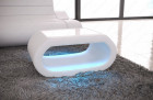 Design coffeetable Concept with LED lights - white