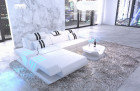 Leather sofa modern L Shape cornercouch white
