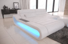 Genuine Leather Sofa Concept L Shape with LED lights - white