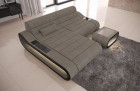 Corner Sofa Concept LED lights - Structured Fabric Hugo 4